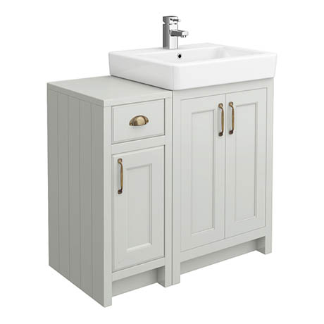 Chatsworth Traditional Grey 560mm Vanity Sink + 300mm Cupboard Unit