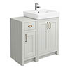 Chatsworth Traditional Grey 560mm Vanity Sink + 300mm Cupboard Unit profile small image view 1