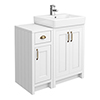 Chatsworth Traditional White 560mm Vanity Sink + 300mm Cupboard Unit profile small image view 1