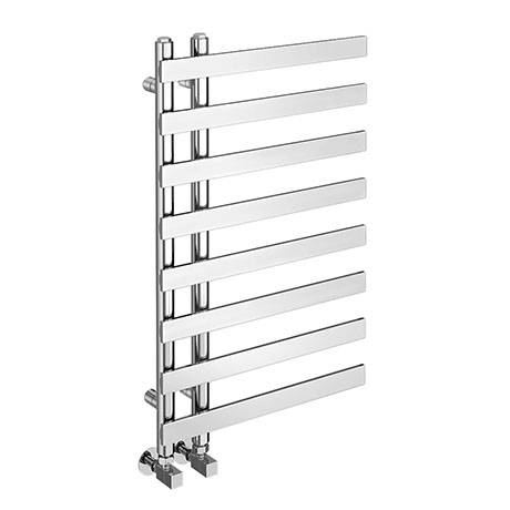Arezzo Chrome 800 x 500mm 8 Bars Designer Heated Towel Rail