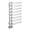 Arezzo Chrome 800 x 500mm 8 Bars Designer Heated Towel Rail profile small image view 1