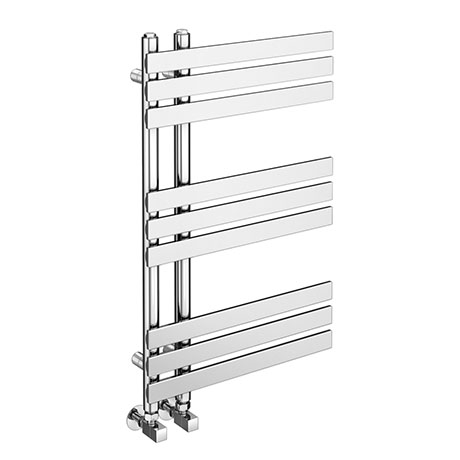 Arezzo Chrome 800 x 500mm 9 Bars Designer Heated Towel Rail