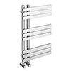 Arezzo Chrome 800 x 500mm 9 Bars Designer Heated Towel Rail profile small image view 1