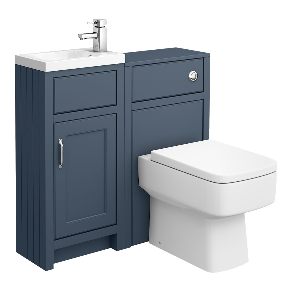 Chatsworth Traditional Blue Cloakroom Suite