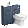 Chatsworth Traditional Blue Cloakroom Suite profile small image view 1