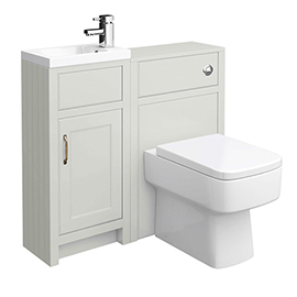 Chatsworth Traditional Cloakroom Vanity Unit Suite - Grey
