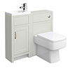 Chatsworth Traditional Cloakroom Vanity Unit Suite - Grey profile small image view 1