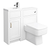 Chatsworth Traditional Cloakroom Vanity Unit Suite - White profile small image view 1
