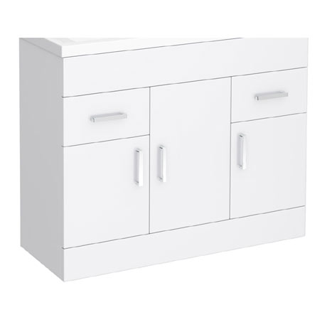 Turin 1000mm Vanity Cabinet (excluding Basin)