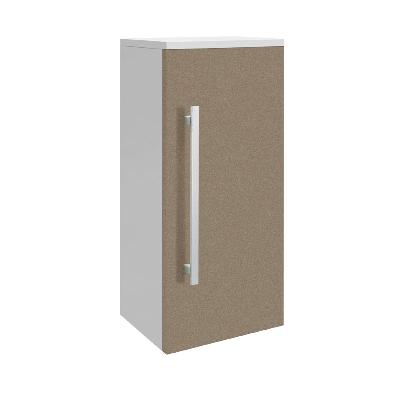 Ultra - Design Wall Mounted Small Cupboard - Gloss Caramel - W350 x D250mm - CAB209 profile large image view 1