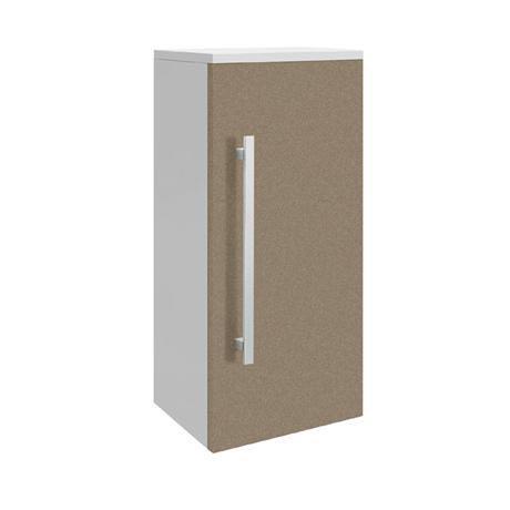 Ultra - Design Wall Mounted Small Cupboard - Gloss Caramel - W350 x D250mm - CAB209