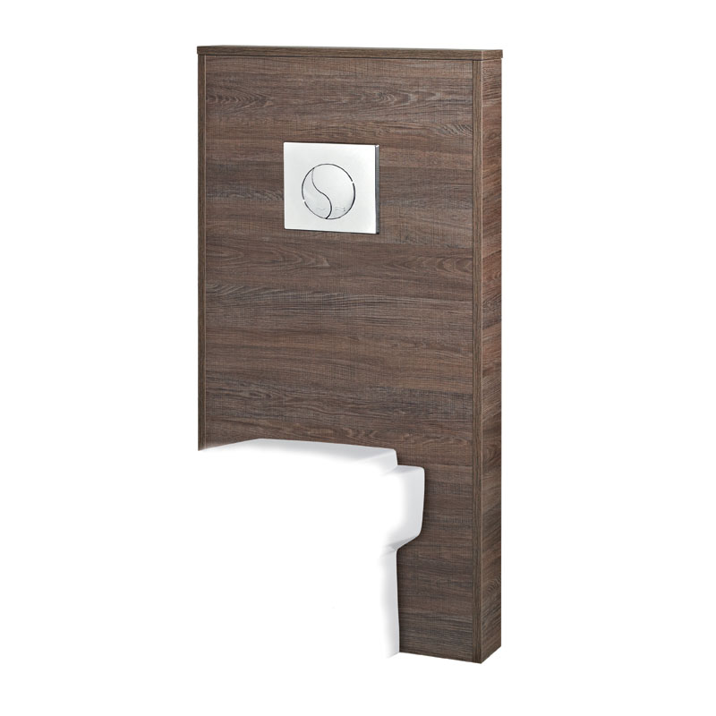 Hudson Reed - Horizon 600mm Slimline Back to Wall WC Unit with Cistern - Mid Sawn Oak Large Image