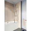 Crosswater Clear 6 Double Panel Bath Screen - CABDSC1150 profile small image view 1