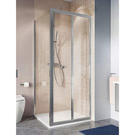 Crosswater Clear 6 Silver Bi-fold Shower Door