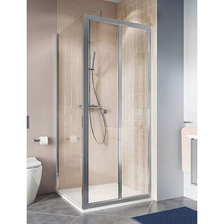 Crosswater Clear 6 Silver Bi-fold Shower Door