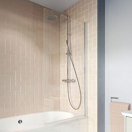 Crosswater 800mm Clear 6 Hinged Square Bath Screen - CABSSC0800