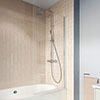 Crosswater 800mm Clear 6 Hinged Square Bath Screen - CABSSC0800 profile small image view 1