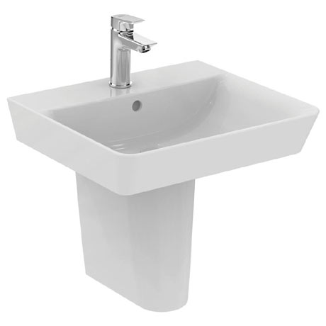 Ideal Standard Concept Air Cube 1TH Basin & Semi Pedestal