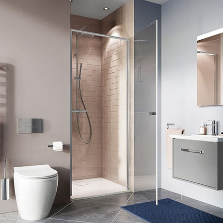 Crosswater Clear 6 Silver Hinged Shower Door