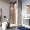 Crosswater Clear 6 Silver Hinged Shower Door profile small image view 1