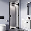 Crosswater Clear 6 Matt Black Infold Shower Door profile small image view 1