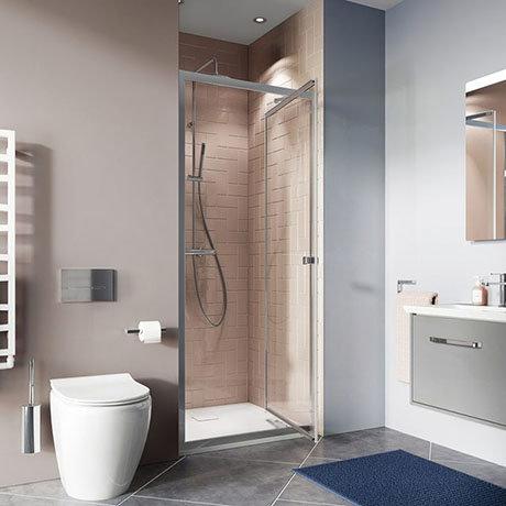 Crosswater 1000mm Clear 6 Silver Infold Shower Door
