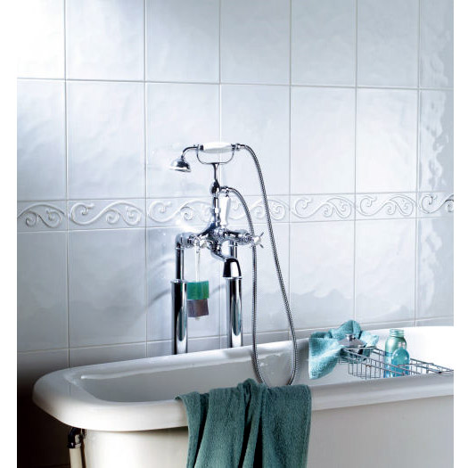 BCT Tiles - 44 Reflections White Wall Gloss Tiles - 148x148mm - CAN30060 Profile Large Image