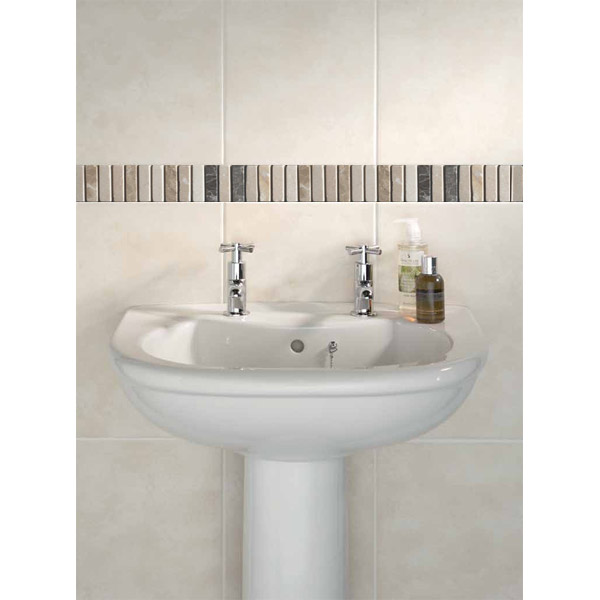 BCT Tiles - 6 Dartmoor Naturals Marble Beige Strips - 305x48mm - CAN43633 Profile Large Image
