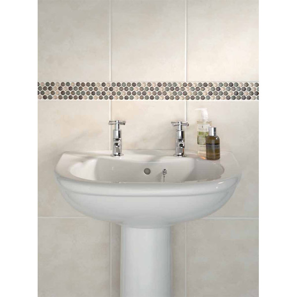 BCT Tiles - 6 Dartmoor Naturals Beige Glass Dots Strips - 312x60mm - CAN43640 Profile Large Image