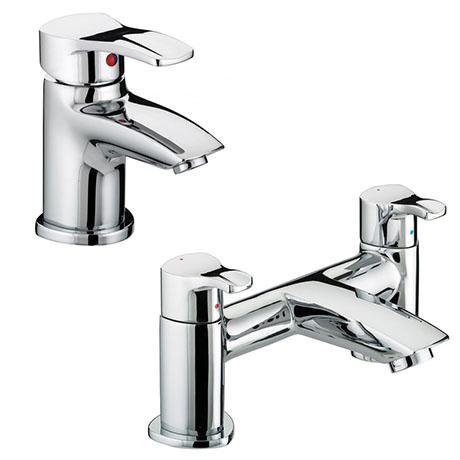 Bristan Capri Contemporary Basin + Bath Filler Tap Pack
