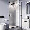 Crosswater 900mm Clear 6 Matt Black Pivot Shower Door - CAPDBC0900 profile small image view 1