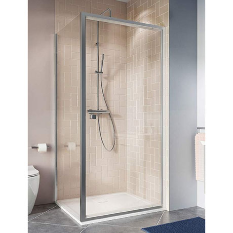 Crosswater Clear 6 Silver Pivot Shower Door
