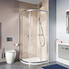 Crosswater 900 x 900mm Clear 6 Silver Quadrant Shower Enclosure - CAQDS0900 profile small image view 1