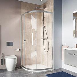 Crosswater 800 x 800mm Clear 6 Quadrant Single Door Shower Enclosure - CAQSSC0800