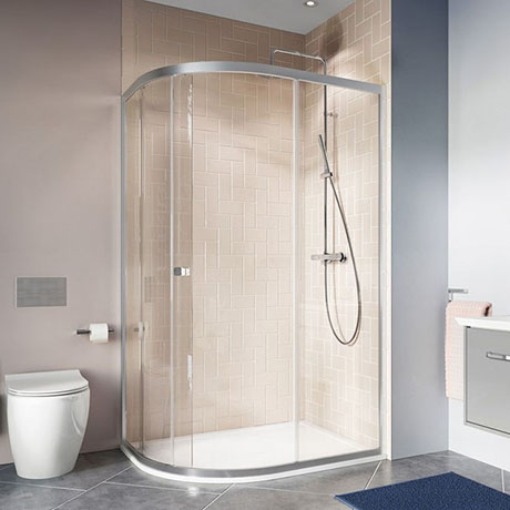 Crosswater 1000 x 800mm Clear 6 Offset Quadrant Single Door Shower Enclosure - CAQSSC10X8