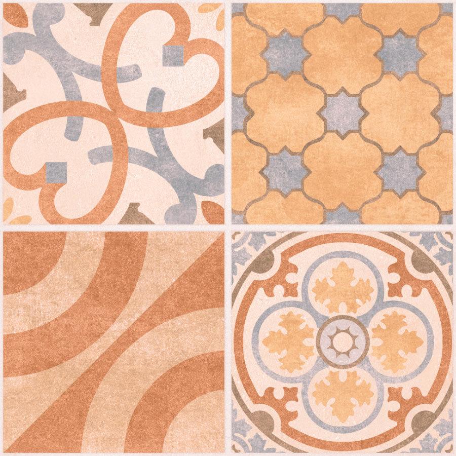 Carmona Porcelain Patterned Floor Tiles - 300 x 300mm  Standard Large Image