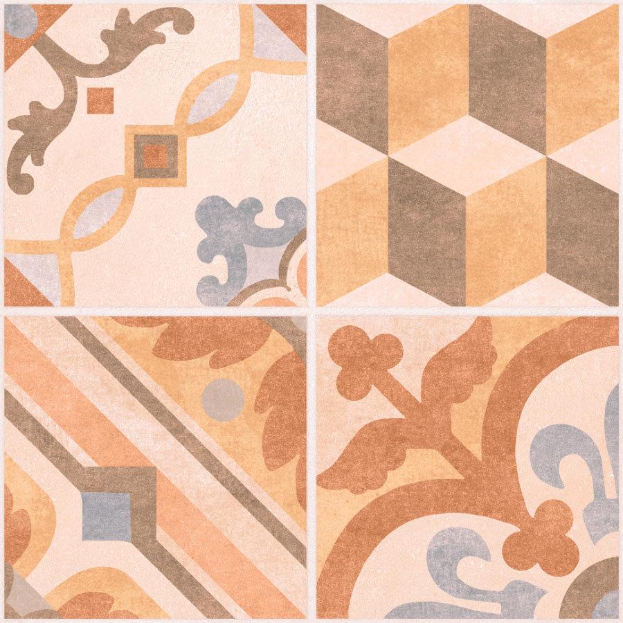Carmona Porcelain Patterned Floor Tiles - 300 x 300mm  Profile Large Image