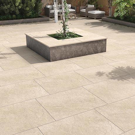 Carmona Beige Outdoor Stone Effect Floor Tile - 600 x 900mm