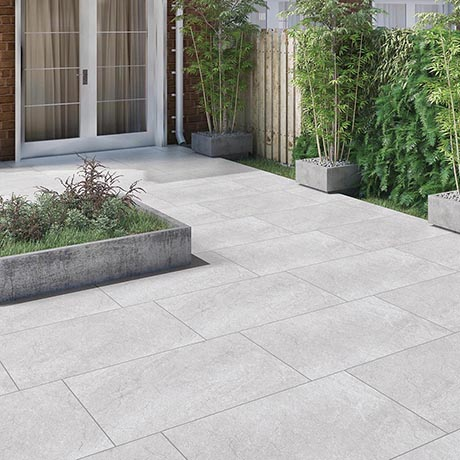 Carmona Grey Outdoor Stone Effect Floor Tile - 600 x 900mm