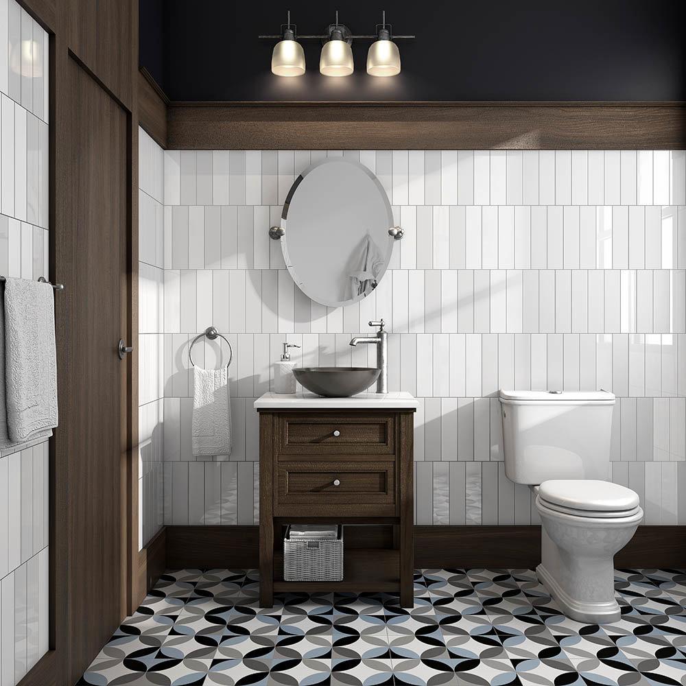 Caroline Blue Wall and Floor Tiles | Best Flooring for Bathrooms
