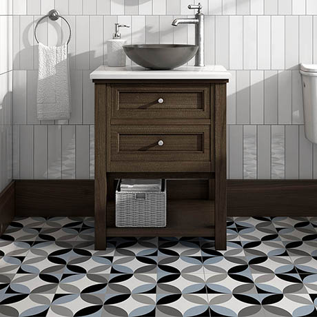Caroline Blue Wall and Floor Tiles - 200 x 200mm