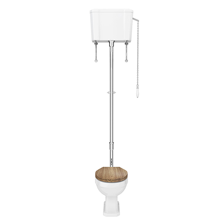 Carlton Traditional High Level Toilet with Soft Close Seat - Various Colour Options
