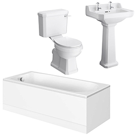 Carlton Traditional Bathroom Suite with Bath Panels (1700 x 700mm)
