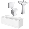 Carlton Traditional Bathroom Suite with Bath Panels (1700 x 700mm) profile small image view 1
