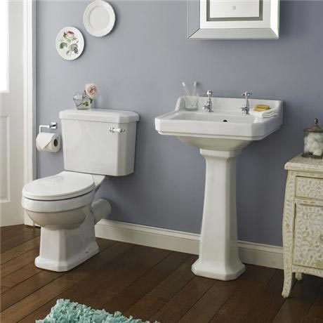 Premier Carlton 4 Piece Ceramic 2TH Bathroom Suite 2 Size Options At Vict