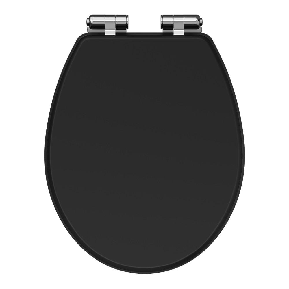 Carlton Soft Close Toilet Seat with Chrome Hinges - Various Colour Options