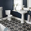 Nuie Carlton 4-Piece Traditional 2TH Bathroom Suite - 500mm Basin profile small image view 1
