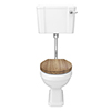Carlton Traditional Low Level Toilet with Soft Close Seat - Various Colour Options profile small image view 1