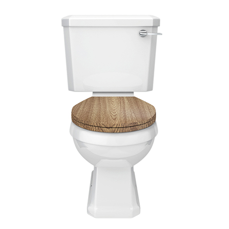 Carlton Traditional Toilet with Soft Close Seat - Various Colour Options