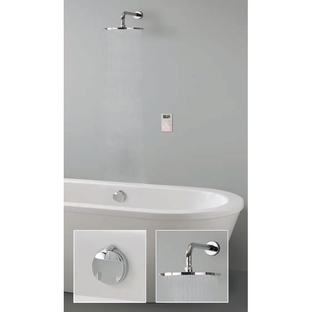 Crosswater Digital Carrera Elite Bath with Bath Filler Waste & Fixed Showerhead - 2 x Colour Options Large Image
